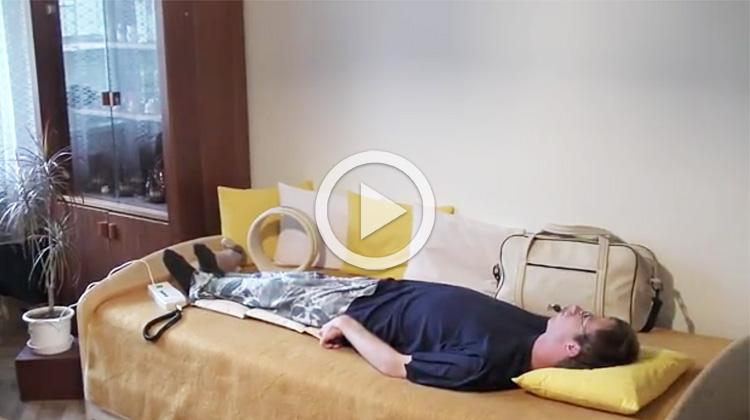 Ukázka aplikace magnetoterapie v domácí péči na dětskou mozkovou obrnu
